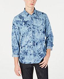 American Rag Men's Tie Dye Denim Shirt, Created for Macy's