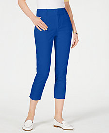 Charter Club Petite Newport Tummy-Control Cropped Pants, Created for Macy's