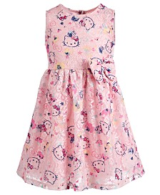 Hello Kitty Toddler Girls Printed Lace Dress