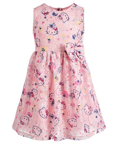 Hello Kitty Little Girls Printed Lace Dress