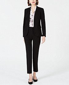Open-Front Jacket, Printed Blouse & Straight-Leg Pants, Created for Macy's