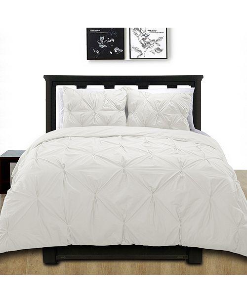 Cottonloft Cottonesque 100% Cotton Pintuck Duvet Cover Mini Set