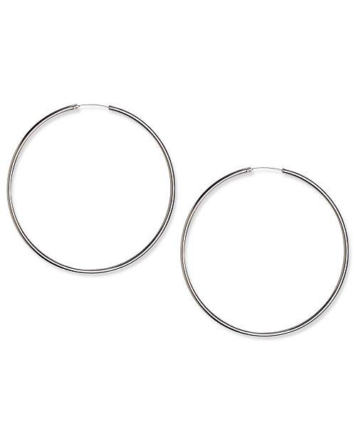 Earrings Silver Plated Thin Hoop