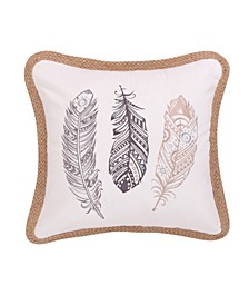 Home Solano Embroidered Feathers Pillow