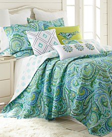 Home Darjeeling Teal King Quilt Set