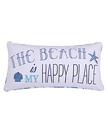 Home Beach Happy Place Pillow