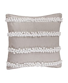 Levtex Home Pom Poms on Burlap Pillow