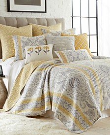 St. Claire Damask Reversible King Quilt Set