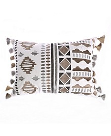 Home Trevino Embroidered Fringe Pillow