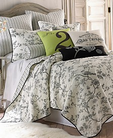 Levtex Home Black Toile Twin Quilt Set