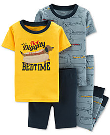 Carter's Toddler Boys 4-Pc. Hot Dog Graphic Cotton Pajamas