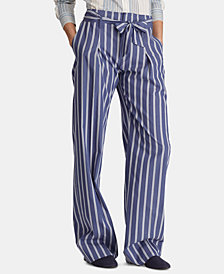 Lauren Ralph Lauren Striped Lightweight Cotton Pants