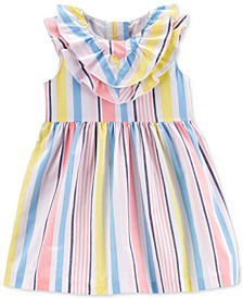 Baby Girls Multicolor Striped Cotton Dress