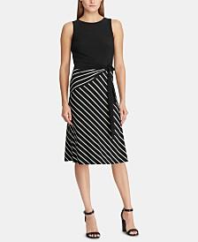 Lauren Ralph Lauren Striped-Skirt A-Line Dress