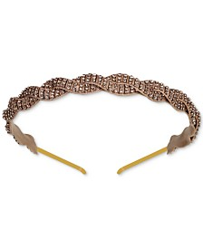 Deepa Gold-Tone Braided Crystal Headband