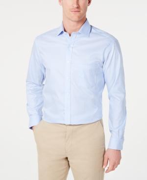 Tasso Elba Men's Classic/Regular-Fit Non-Iron Mini-Herringbone Supima Cotton Dress Shirt, Created for Macy's