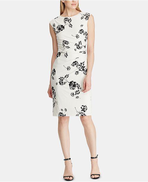 a618bf8b Lauren Ralph Lauren Floral-Print Dress & Reviews - Dresses - Women ...