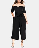 784ee4ddb4f City Chic Trendy Plus Size Tie-Waist Jumpsuit