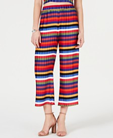 Lucy Paris Aurora Rainbow Pleated Crop Pants