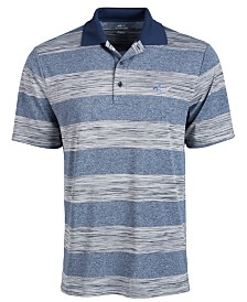 Attack Life by Greg Norman Men's Heather Stripe Polo