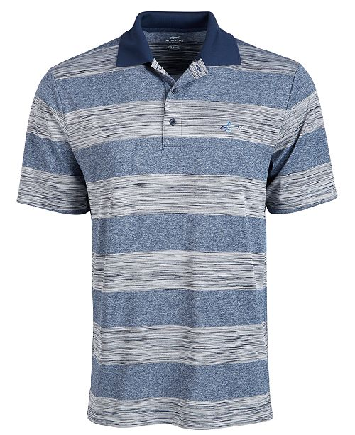 Greg Norman Men's Heather Stripe Polo