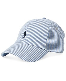 Polo Ralph Lauren Men's Seersucker Baseball Cap