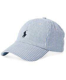Polo Ralph Lauren Men's Seersucker Baseball Cap