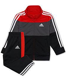 adidas Baby Boys 2-Pc. Colorblocked Track Jacket & Pants Set