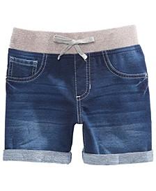 Big Girls Natalie Knit Denim-Look Shorts