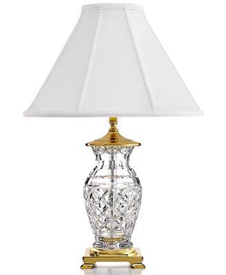 waterford table lamp, kingsley - lighting & lamps - home - macy's