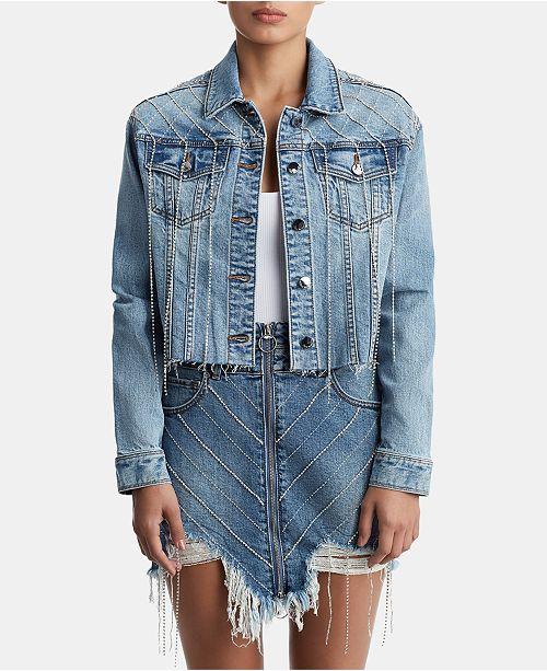 00e6ef55a True Religion Rhinestone-Embellished Denim Jacket   Reviews ...