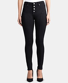 Halle Button-Fly Skinny Jeans