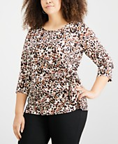 1775172db62 NY Collection Plus Size Tops - Macy s