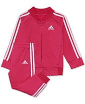huge discount 785aa f6391 adidas Baby Girls 2-Pc. Tricot Track Jacket  Pants Set