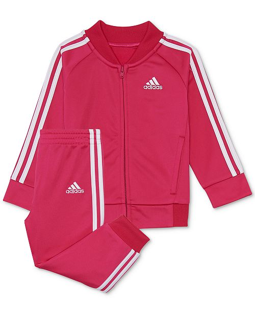 1655027d94b adidas Baby Girls 2-Pc. Tricot Track Jacket   Pants Set   Reviews ...