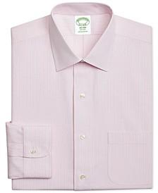 Men's Milano Extra-Slim Fit Non-Iron Pink Stripe Dress Shirt