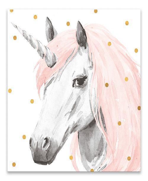 Artissimo Designs Pink Unicorn Printed Canvas