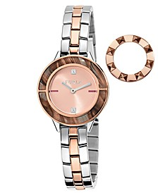 Women's Club Rose Gold Dial Stainless Steel Watch
