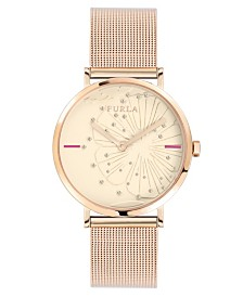 Furla Women's Giada Pink Dial Stainless Steel Watch