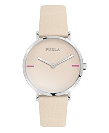 Women's Giada White Dial Calfskin Leather Watch