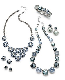Charter Club Silver-Tone Multi-Crystal Jewelry Separates, Created for Macy's