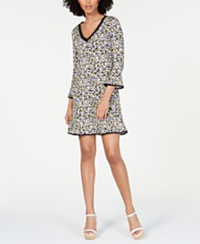 MICHAEL Michael Kors Printed Ruffled Dress, Regular & Petite