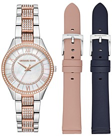 Women's Mini Lauryn Two-Tone Stainless Steel Bracelet Watch 33mm Gift Set
