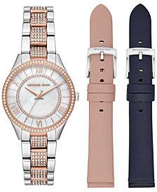 Michael Kors Women's Mini Lauryn Two-Tone Stainless Steel Bracelet Watch 33mm Gift Set