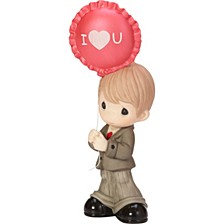 You Make My Heart Smile Boy With Balloon Figurine
