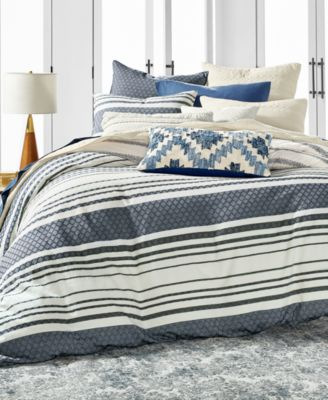 Stripe Bed Cotton European Sham, Created for Macy's