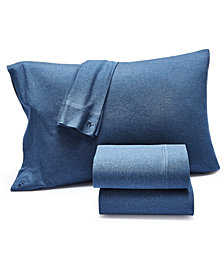 Lucky Brand Jersey Knit Set of 2 Standard Pillowcases, Created for Macy's