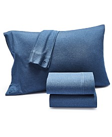 Lucky Brand Jersey 4-Pc. California King Sheet Set, Created for Macy's