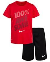 6f2b07498287 Nike 2-Pc. Awesome-Print Dri-FIT T-Shirt   Shorts