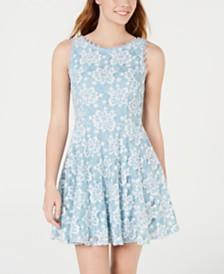 9d1a0b0d3bf City Studios Juniors  Floral Lace A-Line Dress